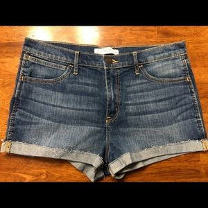 Abercrombie & Fitch denim shorts high rise sz 10